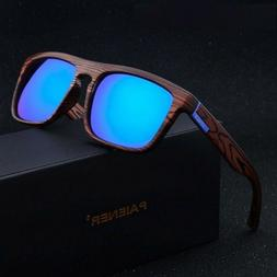 Sunglasses Women Men Retro Imitation Bamboo Wood Polarized S