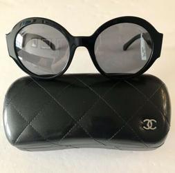 CHANEL Sunglasses Women's 5410 Black Round Polarized Brand