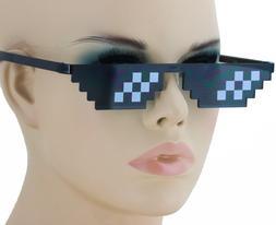 Thug Life Attitude Sunglasses 8 Bit Pixel Deal With IT Unise
