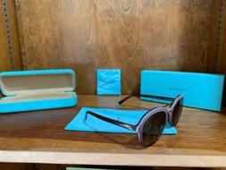 Tiffany & Co. Women's TF4157 TF/4157 8134/3B Havana/Blue Pil