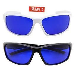 grinderPUNCH Tinted Golf Ball Finder Glasses   Sporty Blue L
