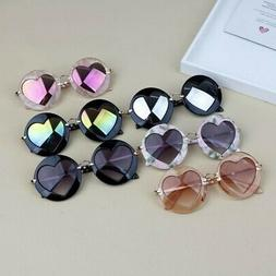 Toddler Kids Girls Boys Heart Shaped Anti- UV Eyeglasses Bab