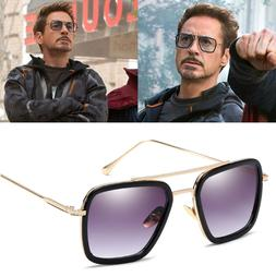Tony Stark Flight 006 Style Sunglasses Men Square Fashion Av