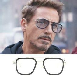 Tony Stark Sunglasses Men Avengers Iron Man Square Sunglasse