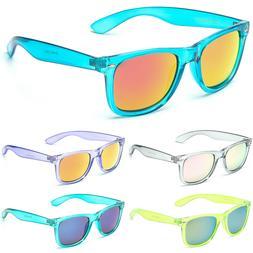 Retro Rewind Translucent Crystal Sunglasses Vintage Fashion