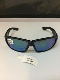 Costa Del Mar Tuna Alley Matte Black Frame Blue Mirror 580G