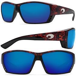 Costa Del Mar Tuna Alley Sunglasses, Tortoise, Blue Mirror 5