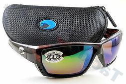 Costa Del Mar Tuna Alley Sunglasses, Tortoise, Green Mirror