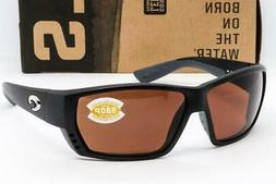 Costa Del Mar Tuna Alley Sunglasses, Matte Black/ Copper 580