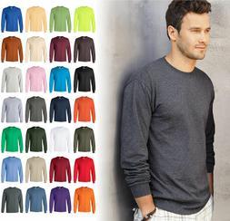 Gildan Ultra Cotton Mens Crewneck Long Sleeve T-Shirt S-5XL