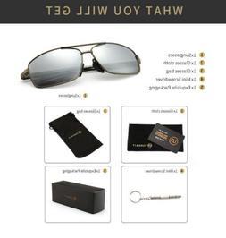 SUNGAIT Ultra Lightweight Rectangular Polarized Sunglasses S