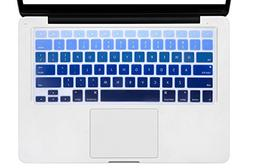 DHZ Dark Blue Gradient Keyboard Cover Silicone Skin for 2015