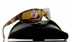 Ray Ban Unisex Polarized Sunglasses - Tortoise - Size:60-17-