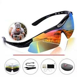 Unisex Sports Cycling Sunglasses Running Glasses with 5 Inte