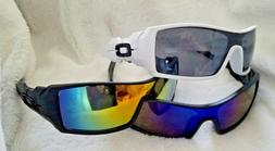 UniSex Sunglasses Matte Black frame / Black lens Goggles Gla