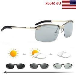 Men's Polarized Photochromic Sunglasses UV400 Driving Transi