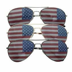 USA America Flag Aviator Glasses  - Assorted Colors Independ