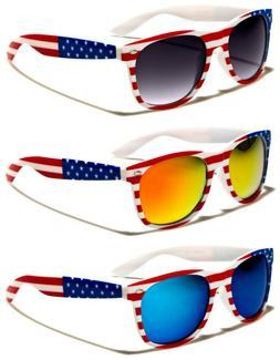 USA American Flag Mirror Sunglasses Stars Patriot Retro Vint
