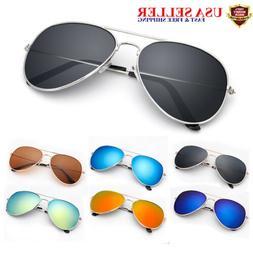 UV 400 Mirrored Sunglasses for Men Women Aviator clour with