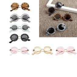 UV400 Cute Round Eye Sunglasses Fashion Frame for Kids Baby