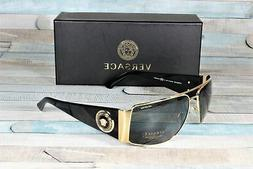 Versace VE2163-100281 GOLD Polarized grey 63 mm Men's Sungla