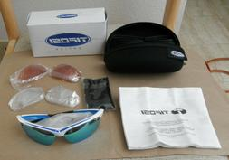 Tifosi Veloce Race Blue Sunglasses with Interchangeable Lens