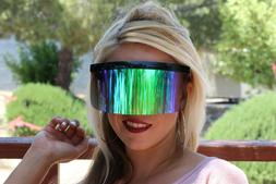 Very Big Lens Oversize Shield Sunglasses Windproof Visor Fla