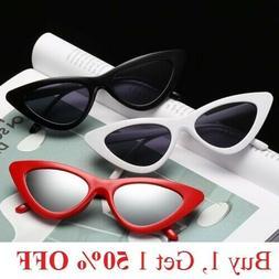Vintage Fashion Cat Eye Sunglasses Womens Retro Triangle Eye