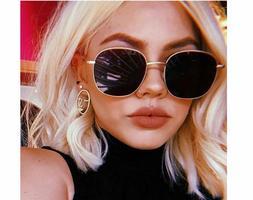 Vintage Metal Sunglasses For Women Uv400 Protective Ladies E