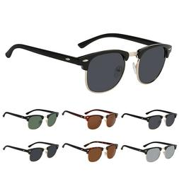 Vintage Retro Half Frame Sunglasses Classic Men Women's Semi