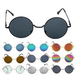 Vintage Retro Sunglasses Men Womens Hippie John Lennon Round
