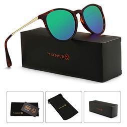 SUNGAIT Vintage Round Sunglasses for Women Classic Retro Des