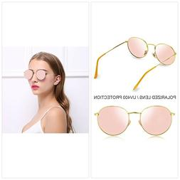 Joopin Vintage Round Sunglasses for Women Retro Brand Polari