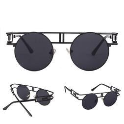 Vintage Sunglasses Steampunk Gothic Retro Round Metal Frame