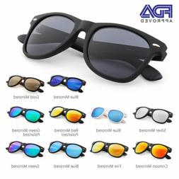 Wayfare Mirrored Sunglasses For Women Mens Ladies Colored Dr