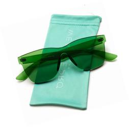 WearMe Pro - Horn Rimmed Tinted Colorful Lens Rimless Sungla