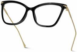 WearMe Pro - New Elegant Oversized Clear Cat Eye Non-Prescri
