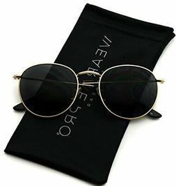 WearMe Pro - Reflective Lens Round Trendy Sunglasses !
