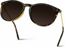 WearMe Pro - Round Retro Polarized Lens Classic Sunglasses f