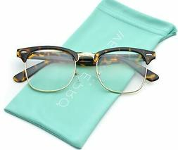 WearMe Pro - Vintage Inspired Classic Clubmaster Nerds Clear