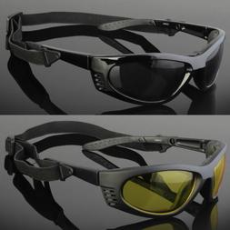 Wind Resistant Sunglasses Sport Motorcycle Riding With Strap