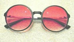 Woman's Zenni frame black frame rose tint sunglasses