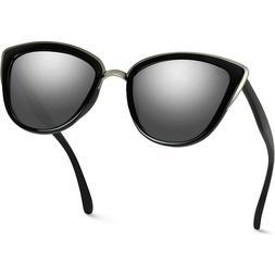 WearMe Pro Women Cat Eye Mirrored Reflective Lenses Oversize
