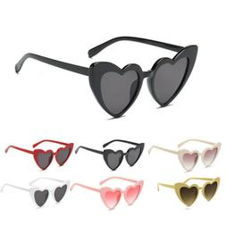 Women Lady Sunglasses Heart Shaped Large Glasses Party Summe
