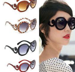 Women Retro Vintage Shades Fashion Designer Sunglasses Acces