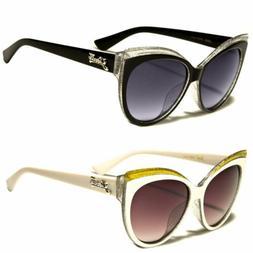 Women Cat Eye Black Sunglasses Retro Classic Vintage Design
