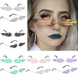 Women's Ladies Sunglasses Flame Rimless Sun Glasses Eyewear