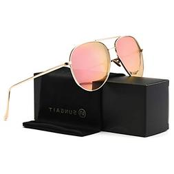 SUNGAIT Women's Lightweight Oversized Aviator sunglasses - M