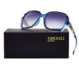 Leckirut Women Shades Classic Oversized Polarized Sunglasses