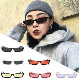 Women Vintage Small Frame Sunglasses Retro Rectangke Eyewear